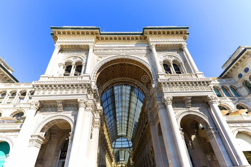 Στοά Vittorio Emanuele ΙΙ, λεωφόρος αγορών πολυτέλειας, Μιλάνο, Ιταλία στοκ εικόνα