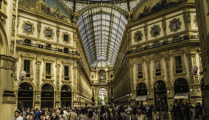 Στοά Vittorio Emanuele ΙΙ στοκ εικόνες με δικαίωμα ελεύθερης χρήσης