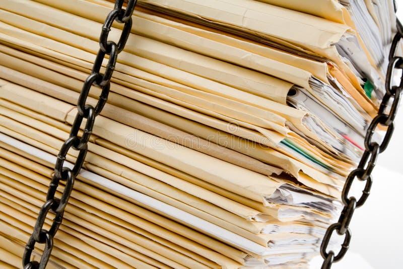 στοίβα αρχείων αλυσίδων στοκ φωτογραφία με δικαίωμα ελεύθερης χρήσης