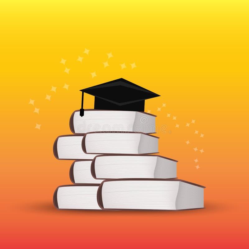 στοίβα βαθμολόγησης βιβλίων ΚΑΠ Κολλέγιο, πανεπιστημιακή έννοια εκπαίδευσης απεικόνιση αποθεμάτων
