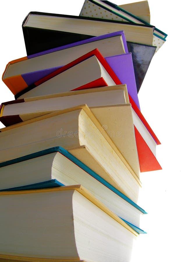 στοίβα βιβλίων ψηλή στοκ εικόνες
