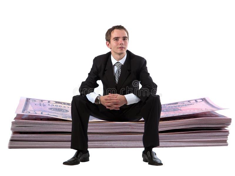 στοίβα δολαρίων επιχειρηματιών στοκ φωτογραφίες με δικαίωμα ελεύθερης χρήσης