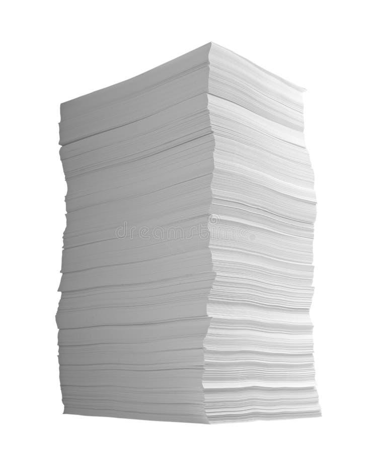 στοίβα εγγράφων γραφείων &e στοκ φωτογραφία με δικαίωμα ελεύθερης χρήσης