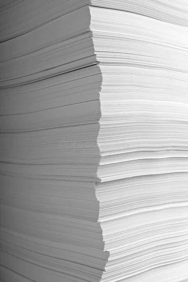 στοίβα εγγράφων γραφείων &e στοκ εικόνες