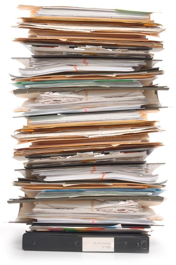 στοίβα εγγράφων στοκ φωτογραφία