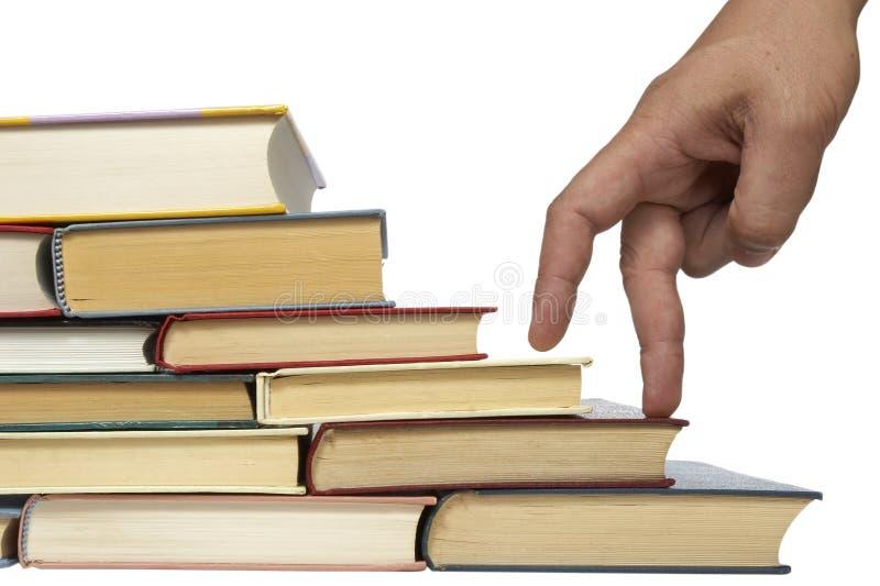 στοίβα εκπαίδευσης βιβλίων στοκ εικόνες