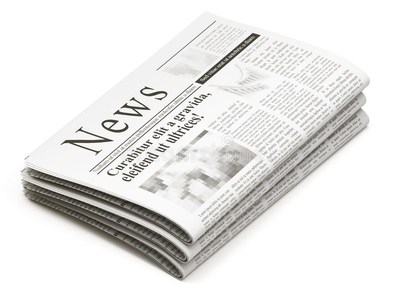 στοίβα εφημερίδων απεικόνιση αποθεμάτων
