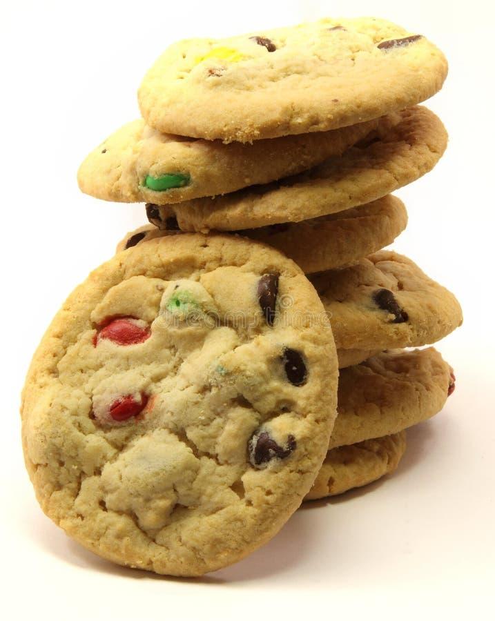 στοίβα μπισκότων σοκολάτ&a στοκ φωτογραφίες