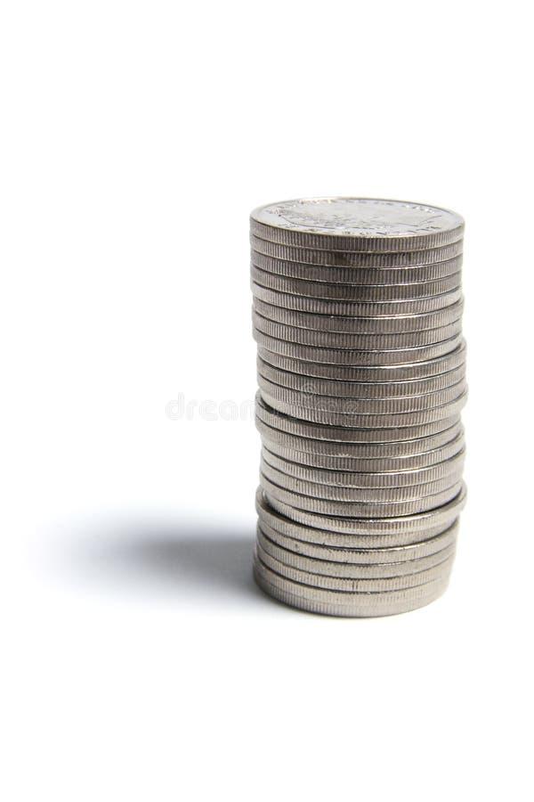 στοίβα νομισμάτων στοκ εικόνα με δικαίωμα ελεύθερης χρήσης