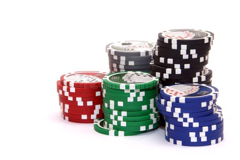 στοίβα πόκερ τσιπ στοκ φωτογραφίες