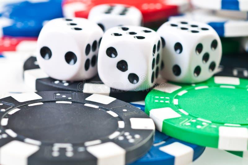 στοίβα πόκερ τσιπ στοκ εικόνες με δικαίωμα ελεύθερης χρήσης