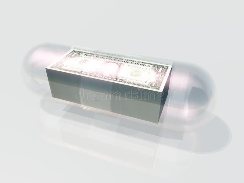 Στοίβα της κάψας αμερικανικού νομίσματος απεικόνιση αποθεμάτων