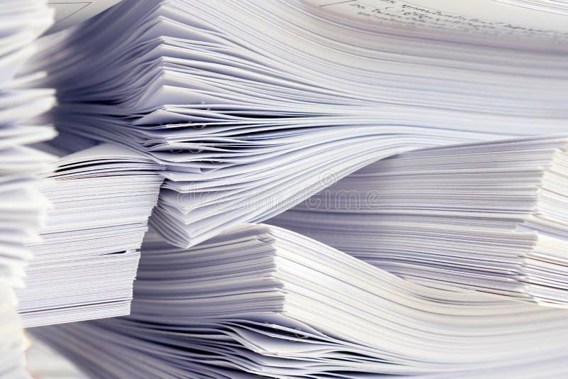 Στοίβα των εγγράφων στοκ φωτογραφία