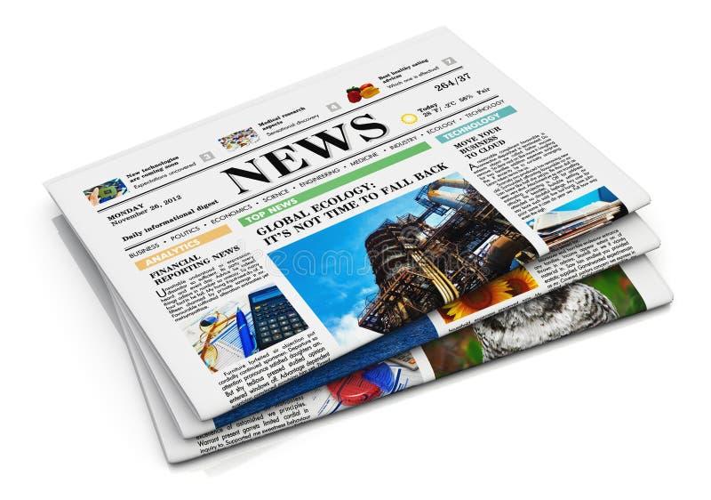 Στοίβα των εφημερίδων διανυσματική απεικόνιση