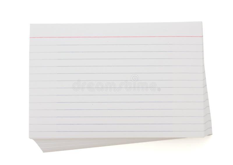 Στοίβα των καρτών ευρετηρίων στοκ φωτογραφία με δικαίωμα ελεύθερης χρήσης