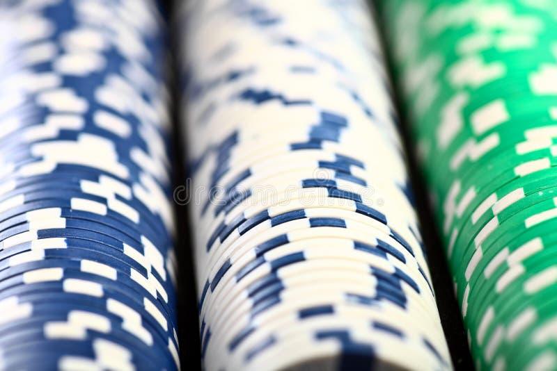Στοίβα των τσιπ πόκερ στοκ εικόνες