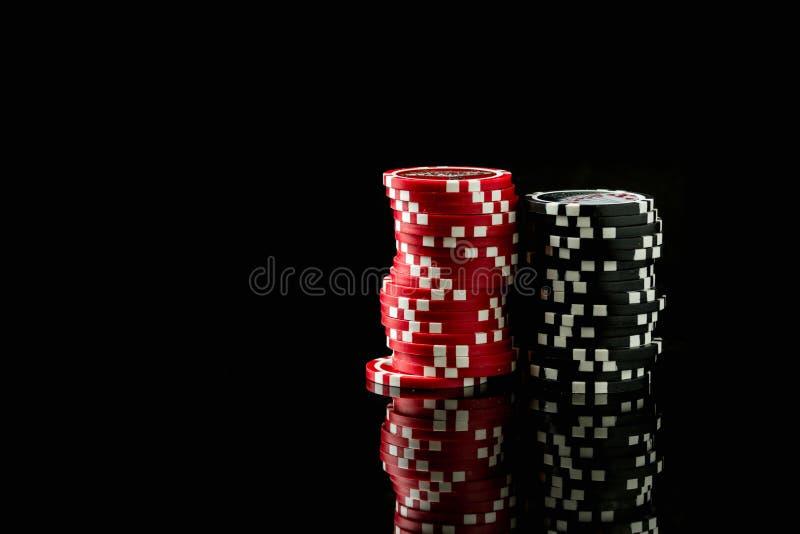 Στοίβα των τσιπ πόκερ στοκ φωτογραφίες με δικαίωμα ελεύθερης χρήσης