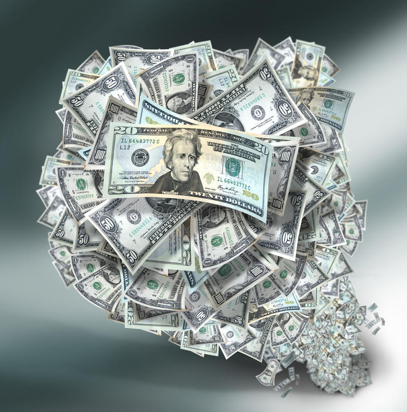 στοίβα χρημάτων στοκ φωτογραφία