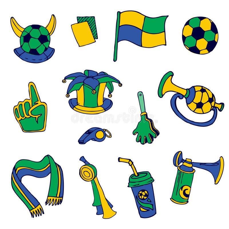 Στοιχεία ανεμιστήρων: Ποδόσφαιρο, Footall, Βραζιλία απεικόνιση αποθεμάτων