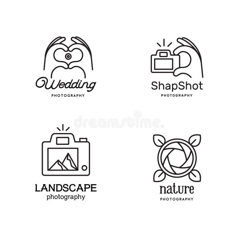 Στοιχεία για τα λογότυπα φωτογράφων διανυσματική απεικόνιση