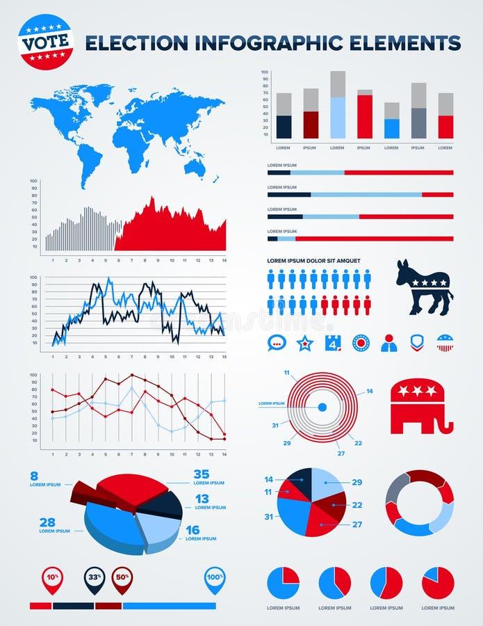 στοιχεία εκλογής σχεδίου infographic διανυσματική απεικόνιση