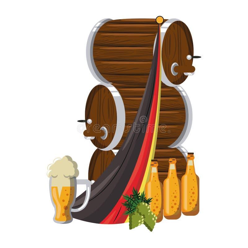 Στοιχεία ζυθοποιείων μπύρας ελεύθερη απεικόνιση δικαιώματος