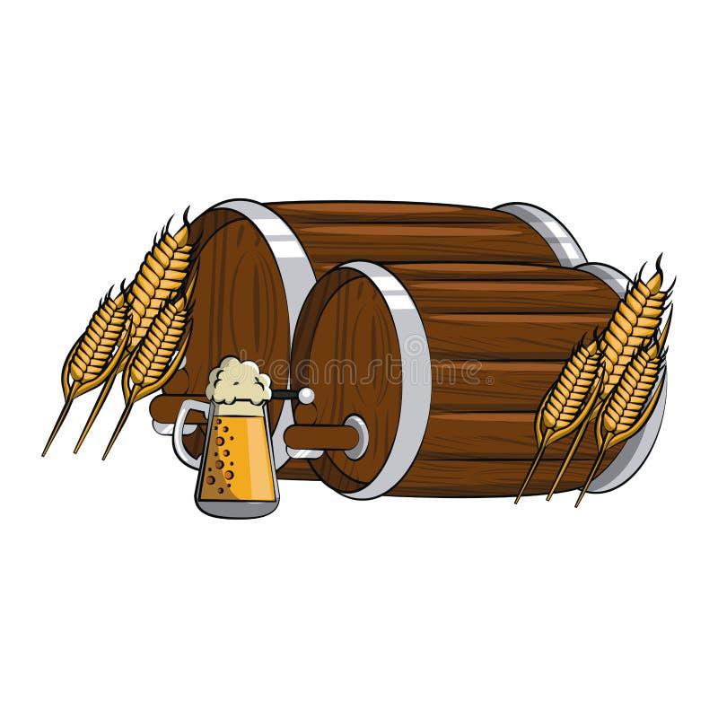 Στοιχεία ζυθοποιείων μπύρας απεικόνιση αποθεμάτων