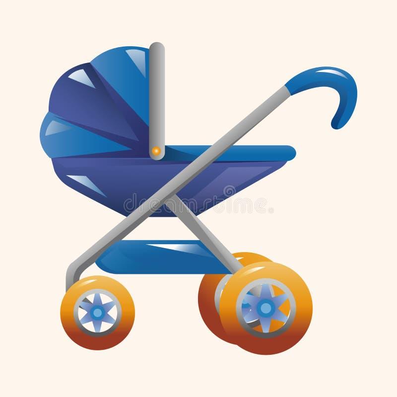 Στοιχεία θέματος μεταφορών μωρών στοκ εικόνες