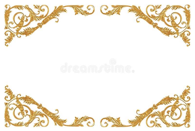 Στοιχεία διακοσμήσεων, εκλεκτής ποιότητας χρυσά floral σχέδια στοκ φωτογραφία με δικαίωμα ελεύθερης χρήσης