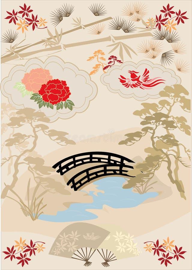 στοιχεία ι σχεδίου ιαπωνικά στοκ εικόνα με δικαίωμα ελεύθερης χρήσης
