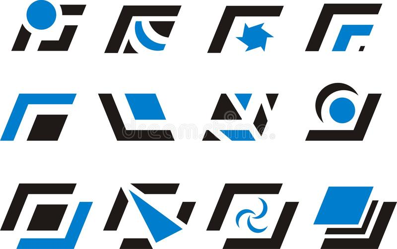 Στοιχεία και λογότυπα σχεδίου διανυσματική απεικόνιση
