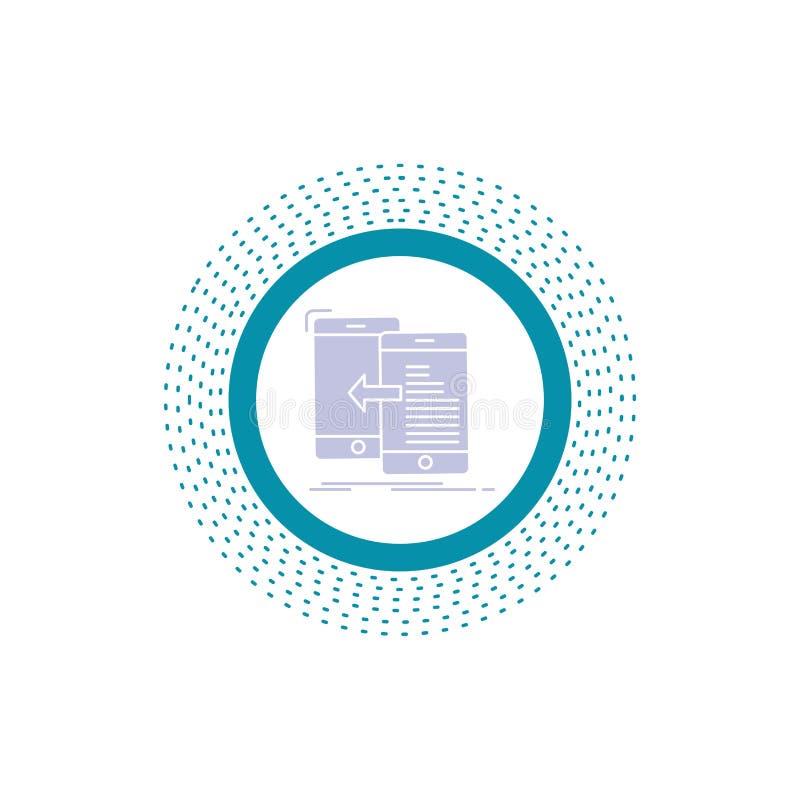 στοιχεία, μεταφορά, κινητή, διαχείριση, εικονίδιο Glyph κίνησης : απεικόνιση αποθεμάτων
