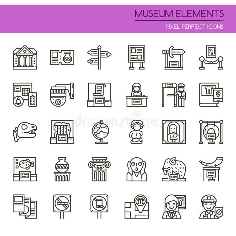 Στοιχεία μουσείων απεικόνιση αποθεμάτων