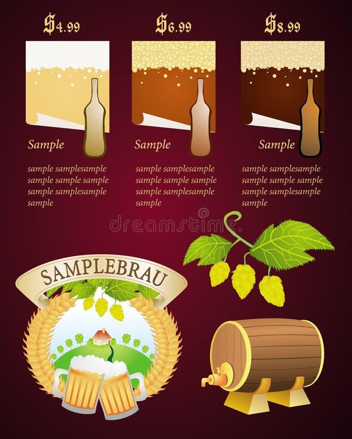 στοιχεία μπύρας διανυσματική απεικόνιση
