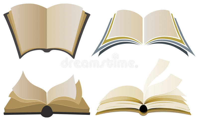 Στοιχεία λογότυπων βιβλίων ελεύθερη απεικόνιση δικαιώματος