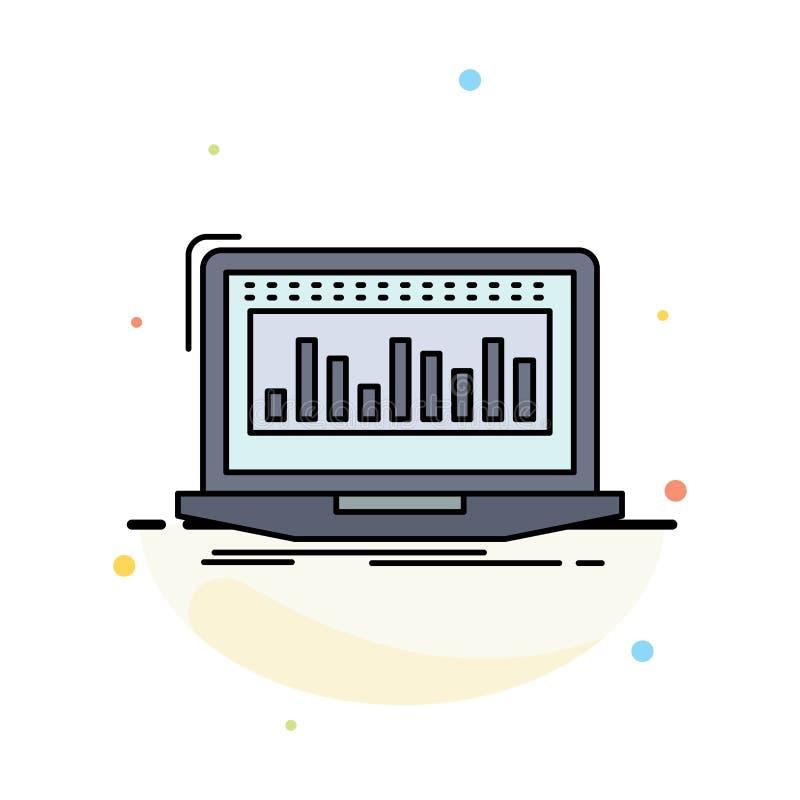 Στοιχεία, οικονομικά, δείκτης, έλεγχος, επίπεδο διάνυσμα εικονιδίων χρώματος αποθεμάτων απεικόνιση αποθεμάτων