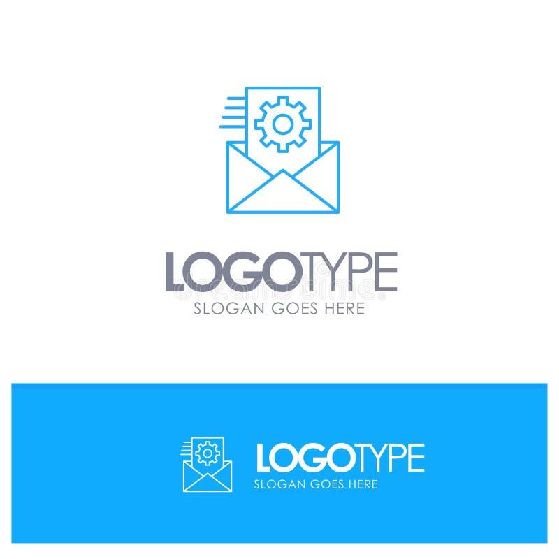 Στοιχεία, ολοκλήρωση στοιχείων, διαχείριση δεδομένων, μπλε λογότυπο περιλήψεων ολοκλήρωσης με τη θέση για το tagline διανυσματική απεικόνιση