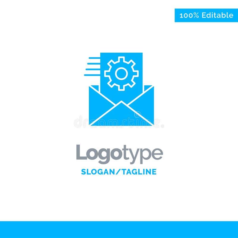 Στοιχεία, ολοκλήρωση στοιχείων, διαχείριση δεδομένων, μπλε στερεό πρότυπο λογότυπων ολοκλήρωσης r διανυσματική απεικόνιση