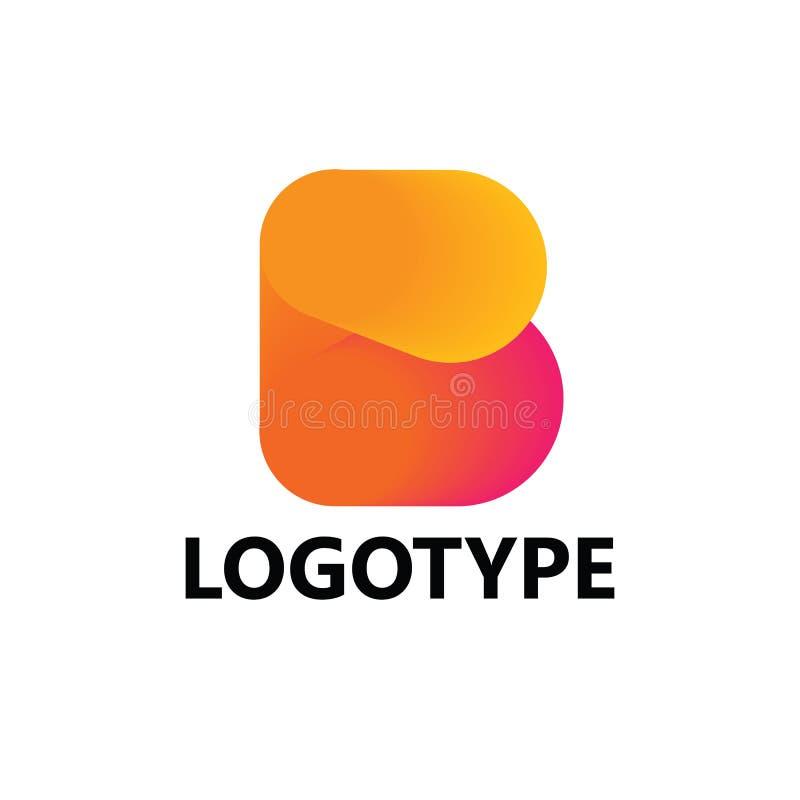 Στοιχεία προτύπων σχεδίου εικονιδίων λογότυπων γραμμάτων Β στοκ εικόνα με δικαίωμα ελεύθερης χρήσης