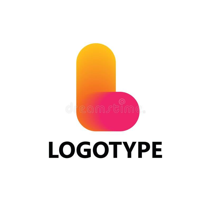 Στοιχεία προτύπων σχεδίου εικονιδίων λογότυπων γραμμάτων Λ στοκ φωτογραφίες