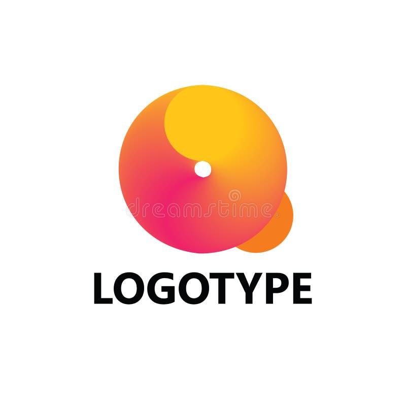 Στοιχεία προτύπων σχεδίου εικονιδίων λογότυπων γραμμάτων Q στοκ εικόνες