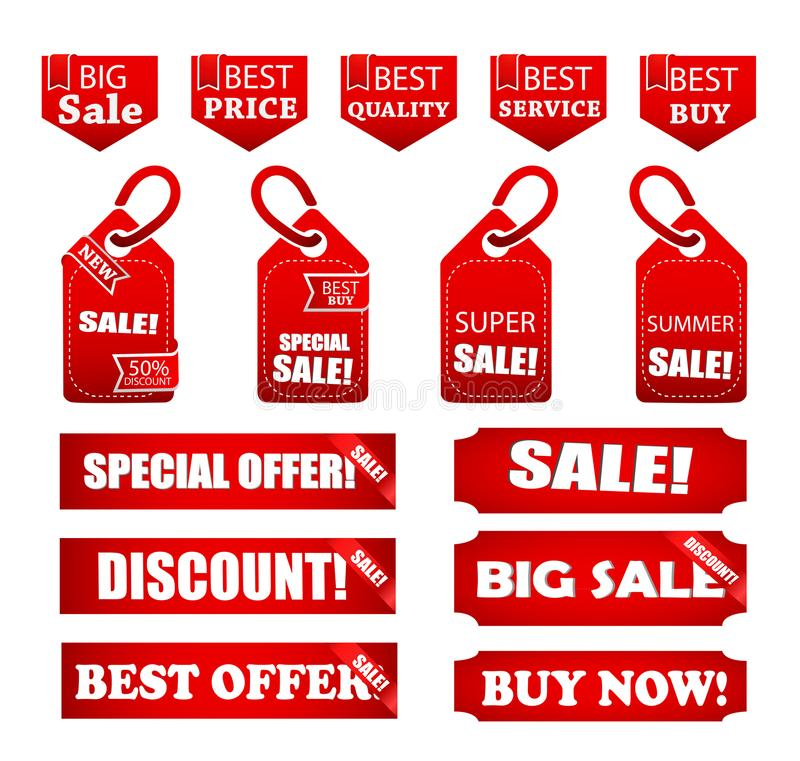 Στοιχεία πώλησης που κολλιούνται για την επιχείρηση απεικόνιση αποθεμάτων