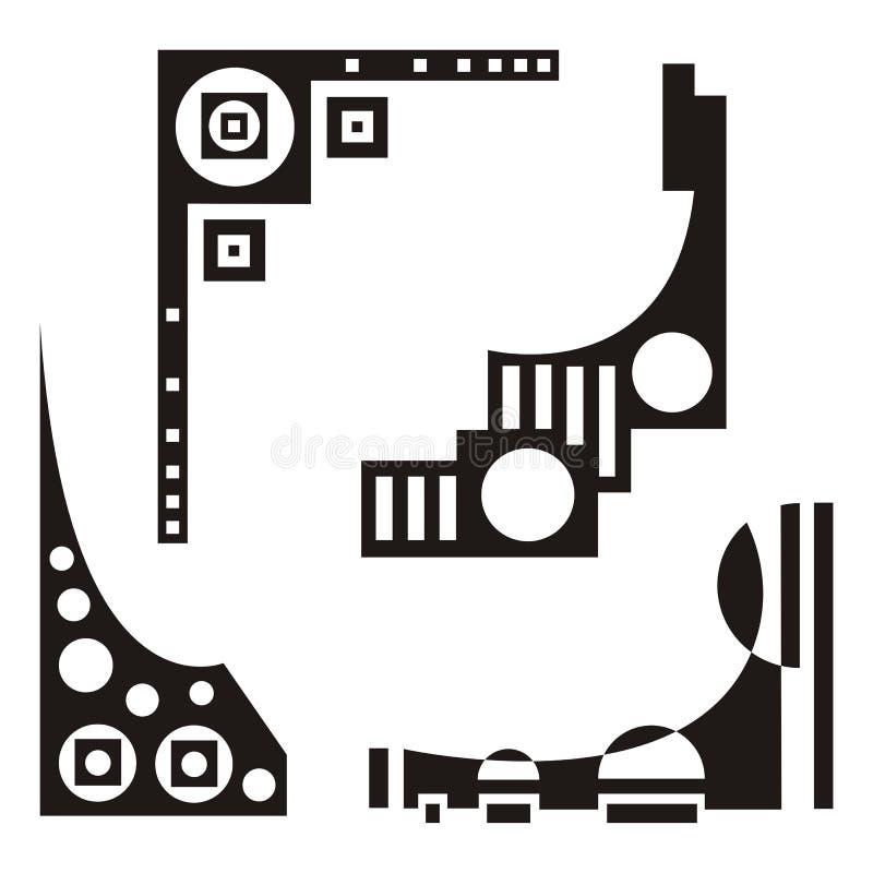 στοιχεία σχεδίου αστικά διανυσματική απεικόνιση