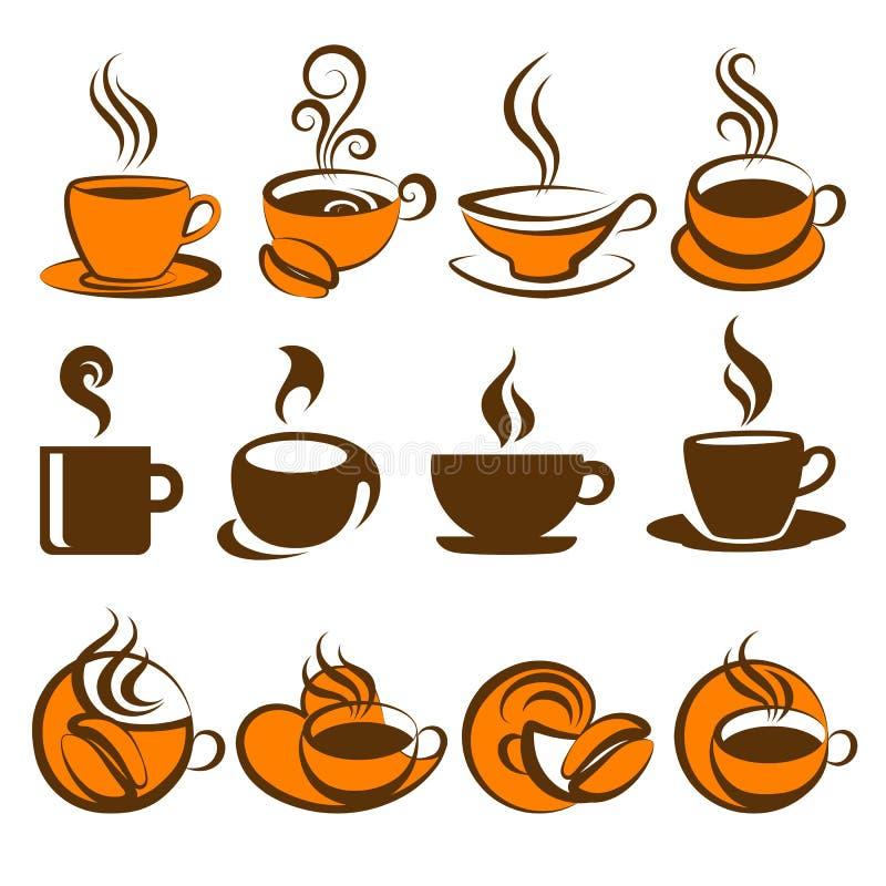 στοιχεία σχεδίου καφέ ελεύθερη απεικόνιση δικαιώματος