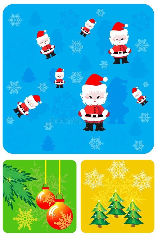 στοιχεία σχεδίου Χριστουγέννων που τίθενται διανυσματική απεικόνιση