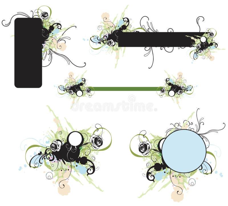 στοιχεία σχεδίου διανυσματική απεικόνιση