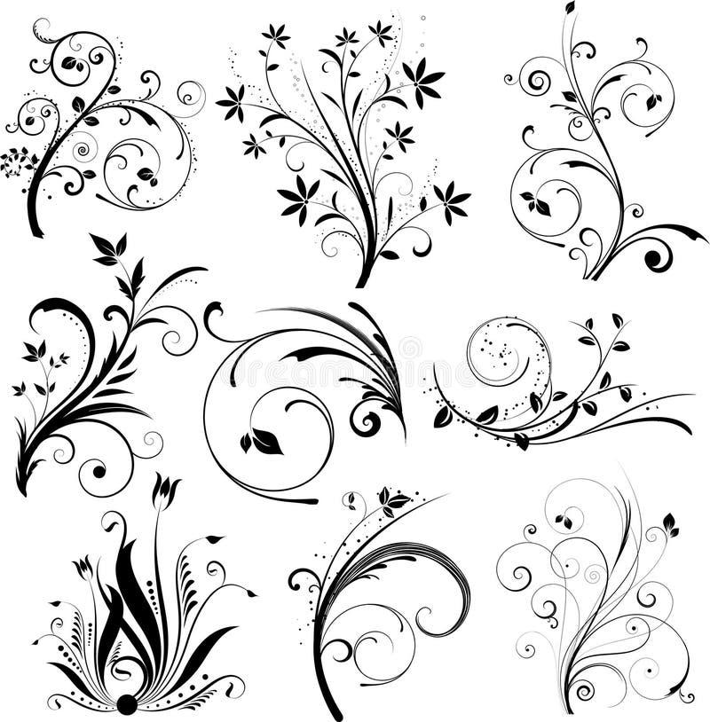 στοιχεία σχεδίου floral ελεύθερη απεικόνιση δικαιώματος