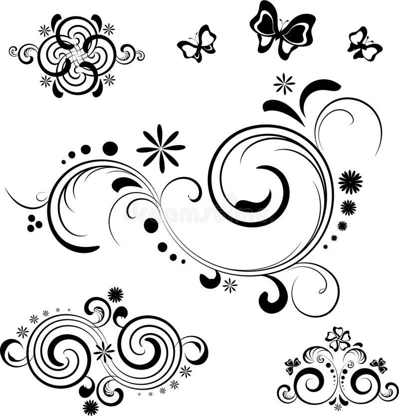 στοιχεία σχεδίου floral διανυσματική απεικόνιση