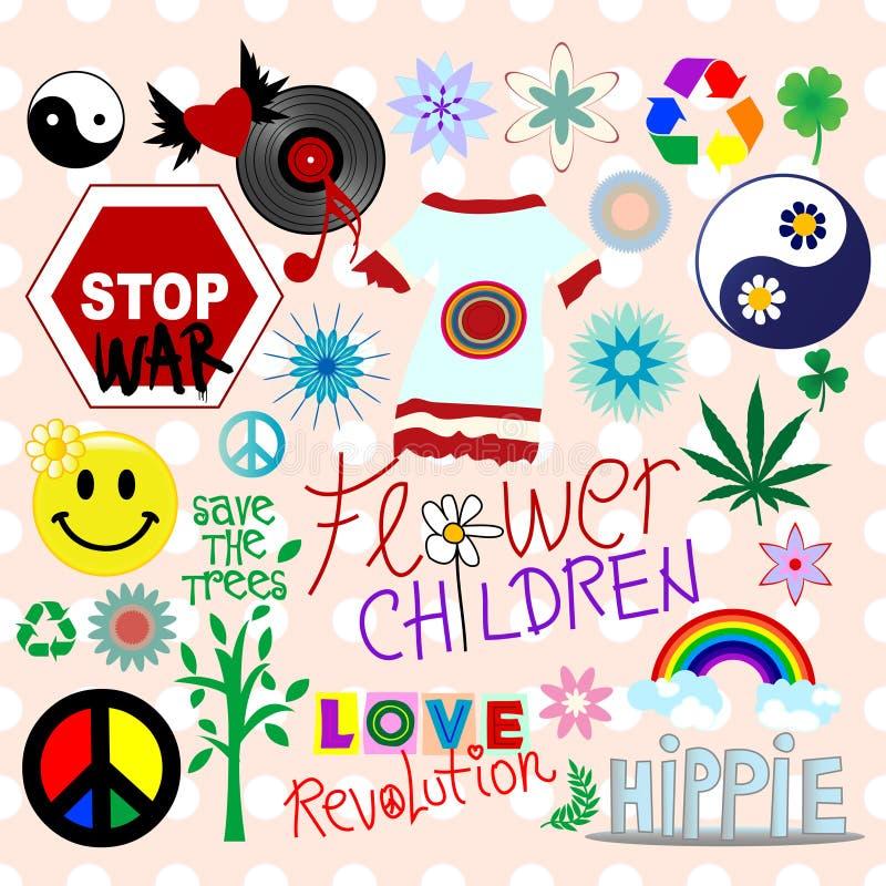 στοιχεία σχεδίου hippie ελεύθερη απεικόνιση δικαιώματος