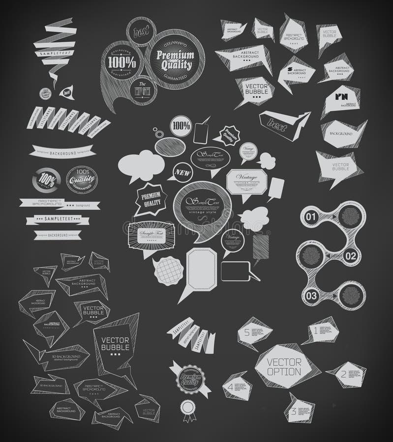 Στοιχεία σχεδίου για τις επιλογές με την κιμωλία διανυσματική απεικόνιση